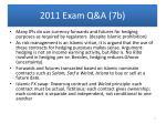 2011 exam q a 7b