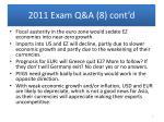 2011 exam q a 8 cont d