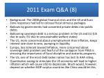 2011 exam q a 8