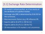 3 1 exchange rate determination