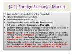 4 1 foreign exchange market