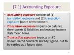 7 1 accounting exposure