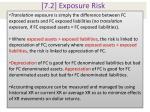 7 2 exposure risk
