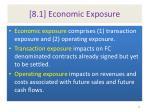 8 1 economic exposure