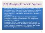 8 3 managing economic exposure