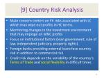 9 country risk analysis