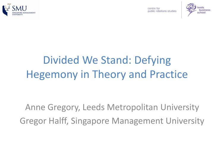 divided we stand defying hegemony in theory and practice n.