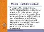 mental health professional