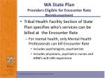 wa state plan providers eligible for encounter rate reimbursement