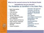 what are the covered services for the mental health rehabilitative services benefit