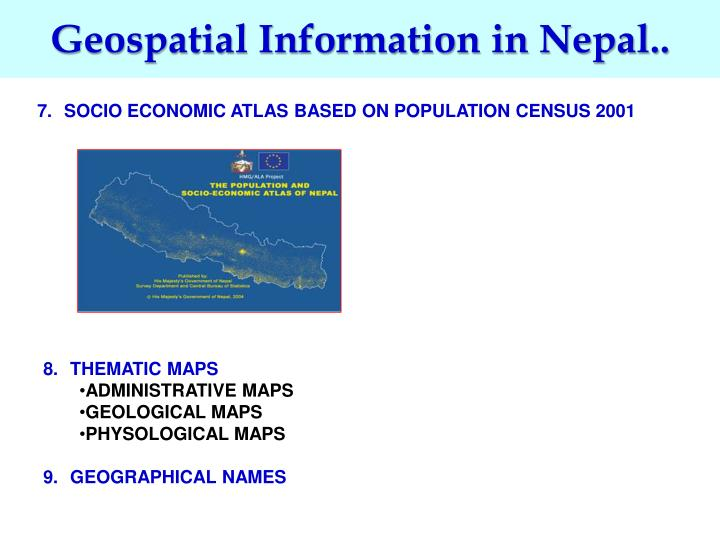 Geospatial Information in Nepal..