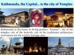 kathmandu the capital is the city of temples