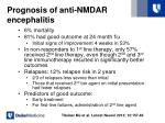 prognosis of anti nmdar encephalitis