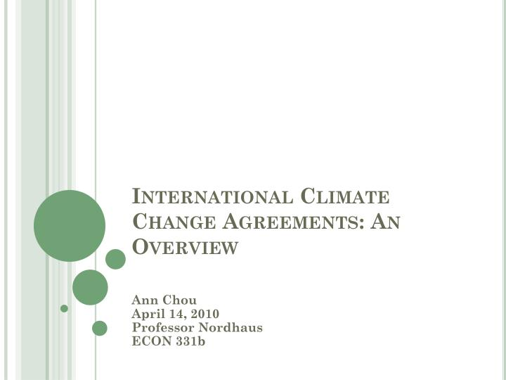 international climate change agreements an overview n.