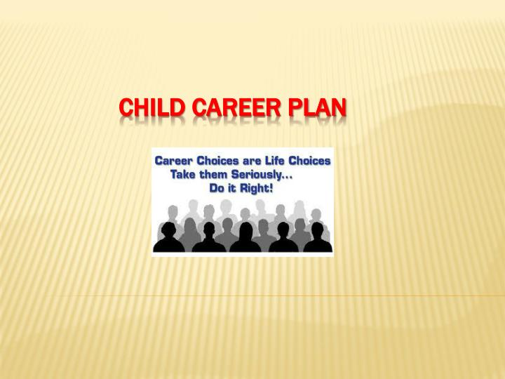 child career plan n.