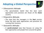 adopting a global perspective