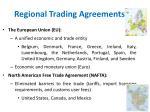 regional trading agreements