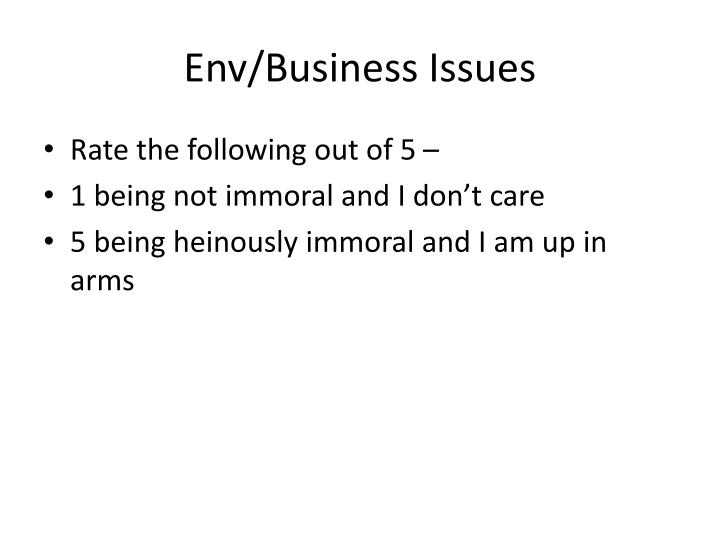 env business issues n.