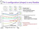 h 1 configuration shape is very flexible