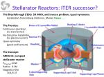stellarator reactors iter successor