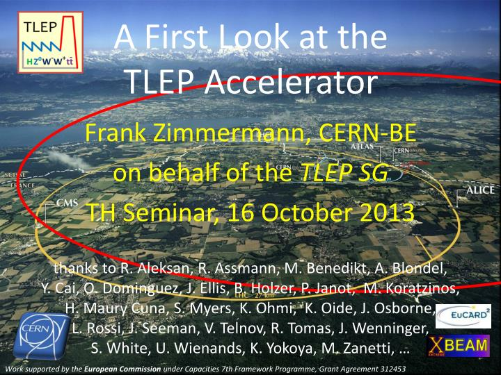 a first look at the tlep accelerator n.