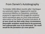 from darwin s autobiography