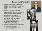 molecular clocks