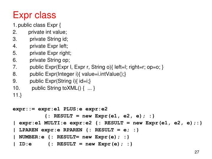 Expr class