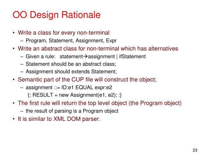 OO Design Rationale