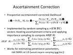 ascertainment correction