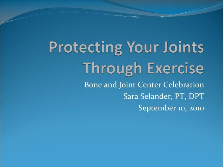 protecting your joints through exercise n.