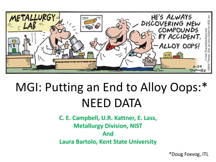mgi putting an end to alloy oops need data n.