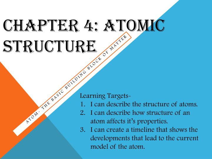 chapter 4 atomic structure n.