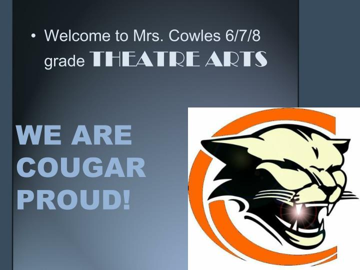 we are cougar proud n.