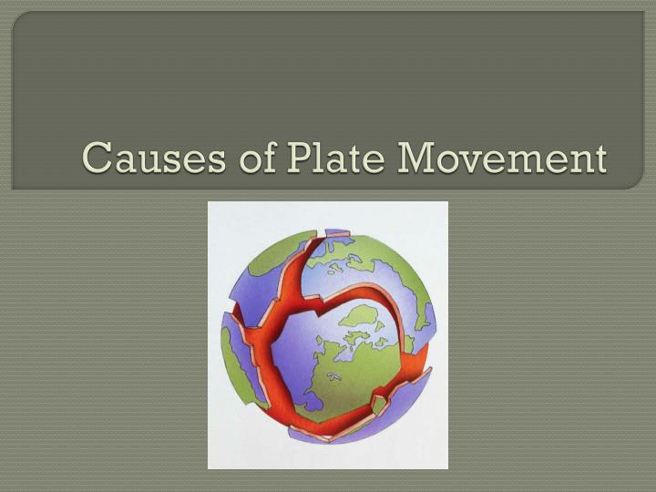causes of plate movement n.