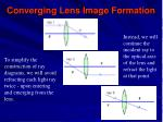 converging lens image formation