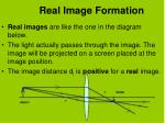 real image formation