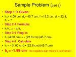 sample problem part 2