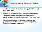 mendeleev s periodic table1