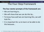 the four step framework