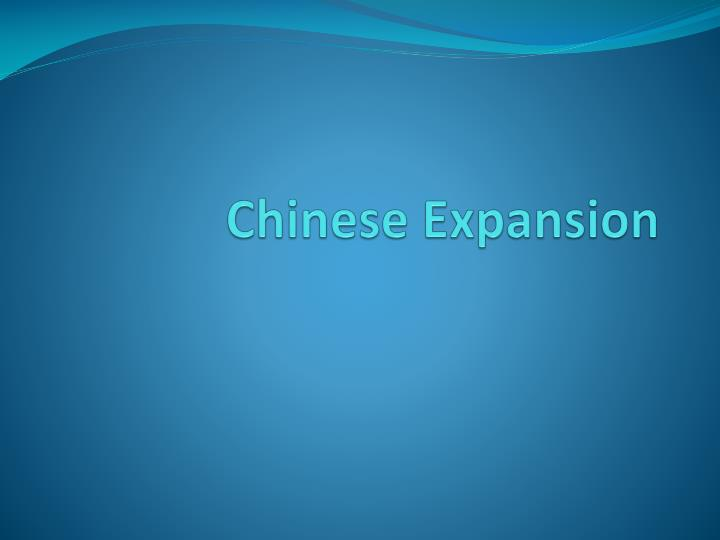 chinese expansion n.