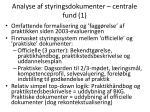 analyse af styringsdokumenter centrale fund 1