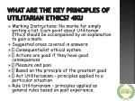 what are the key principles of utilitarian ethics 4ku