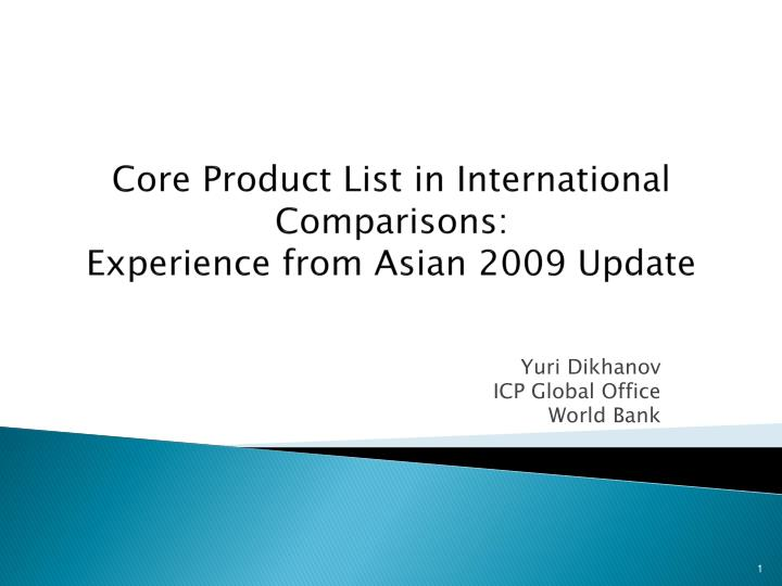 core product list in international comparisons experience from asian 2009 update n.