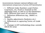 inconsistencies between national deflators and international comparisons of prices icp benchmarks