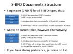 s bfd documents structure
