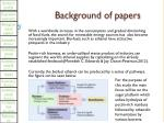 background of papers