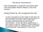 the rosen framework5