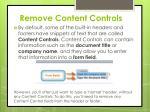 remove content controls