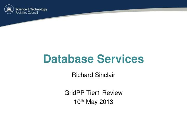 database services n.